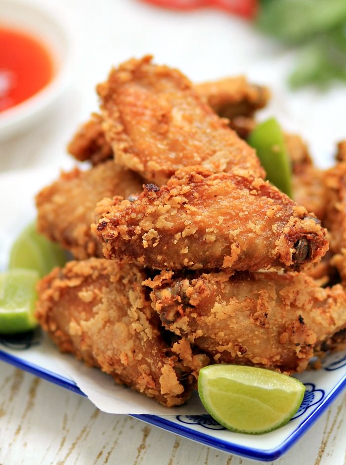 Thai-style chicken wings | Save and organize favourites on your iPhone or iPad with @RecipeTin – without typing them in! Find out more here: www.recipetinapp.com #recipes #Thai