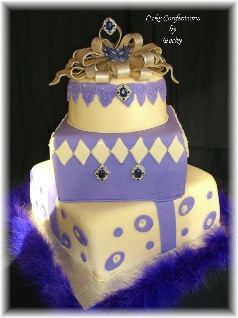 Whimsey Package - This was for a bday but really could be a funky wedding cake too. I just love how this one turned out.