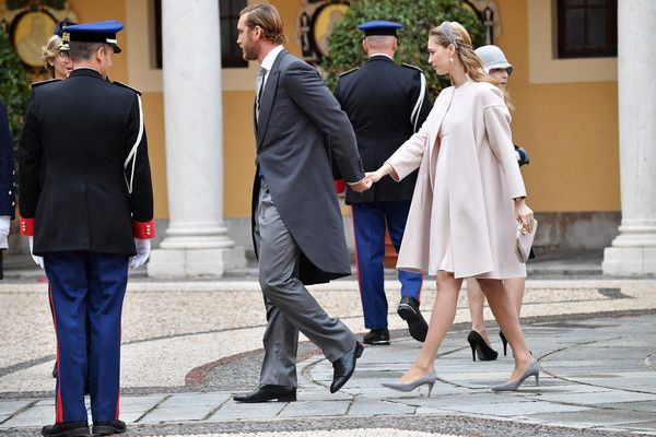 Beatrice Borromeo Photos Photos - Pierre Casiraghi and Beatrice Borromeo attend the Monaco National Day Celebrations in the Monaco Palace Courtyard on November 19, 2016 in Monaco, Monaco. - Monaco National Day 2016
