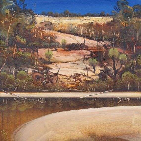 """""""Blackwater Pool"""" 60cm x 60cm. For more information please contact REDSEA Gallery on (07) 3162 2230 © Christopher Lees"""