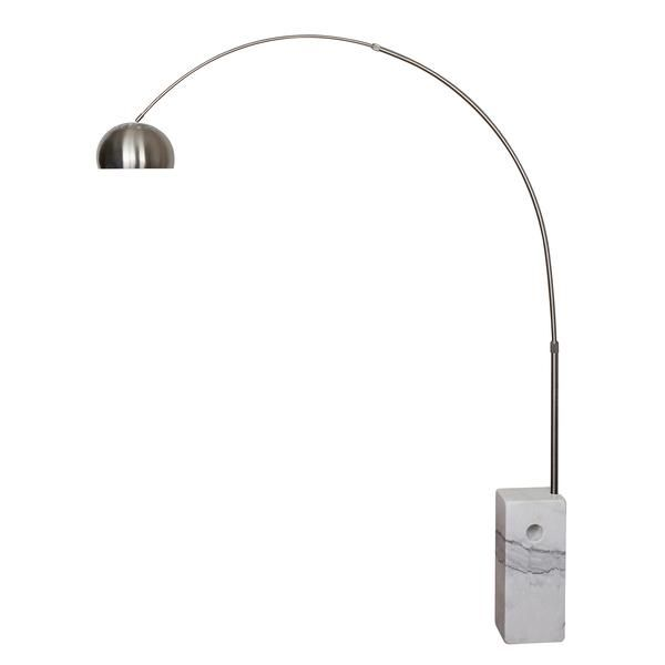 Floor Lamps - EdgeMod SoHo Modern Arc Floor Lamp in White | LS-F166-WHI | 641061723837| $268.80. Buy it today at www.contemporaryfurniturewarehouse.com