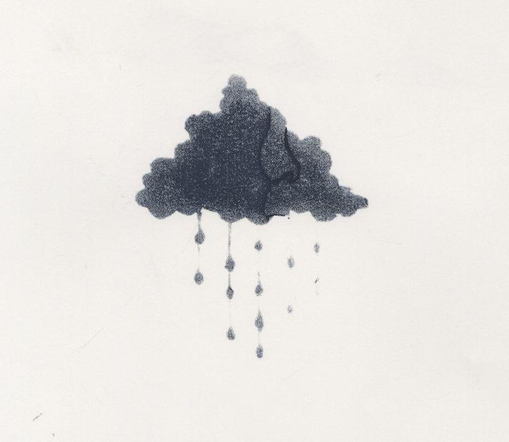 faded cloud - screen printing