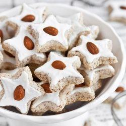 Almond star cookies - Zimtsterne German cookies