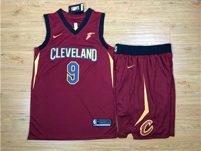 Nike Cavaliers  9 Dwyane Wade Red Swingman Jersey(With Shorts)  8a2e1fdfa