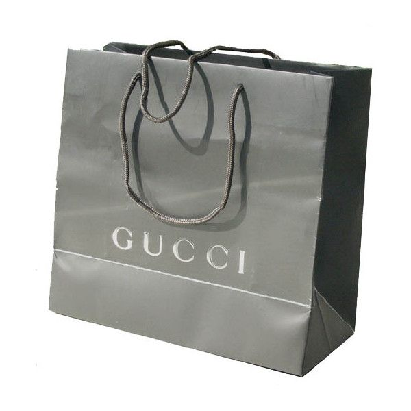 GUCCI SHOPPING BAG 3 EACH NEW ORIGINAL PAPER w/HANDLE - eBay (item... ❤ liked on Polyvore