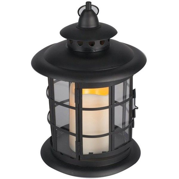 """Gerson 7.87 x 10.24"""" Metal & Resin Round Lantern w/ Flameless Candle... (1.790 RUB) ❤ liked on Polyvore featuring home, home decor, candles & candleholders, candles, props, battery powered candles, round lanterns, colored lanterns, battery powered lanterns and metal lanterns"""