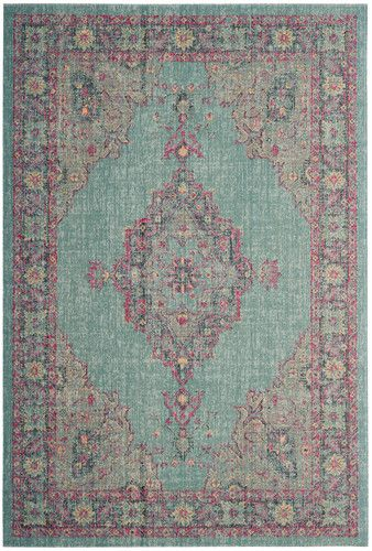 Artisan 505 Light Blue/Navy Power Loomed Area Rug