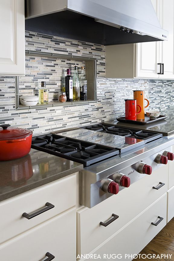 love the built-in shelf above the stove