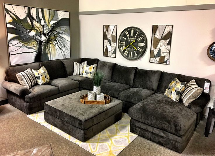 The prefect crash pad!!! This oh so comfy Harbor Crossing sectional just arrived dressed in a new fabric.