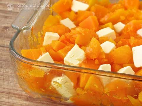 YAMS MINUS THE LOW CARB MARSHMALLOW (MY WAY BAKED WITH SALT AND PEPPER)