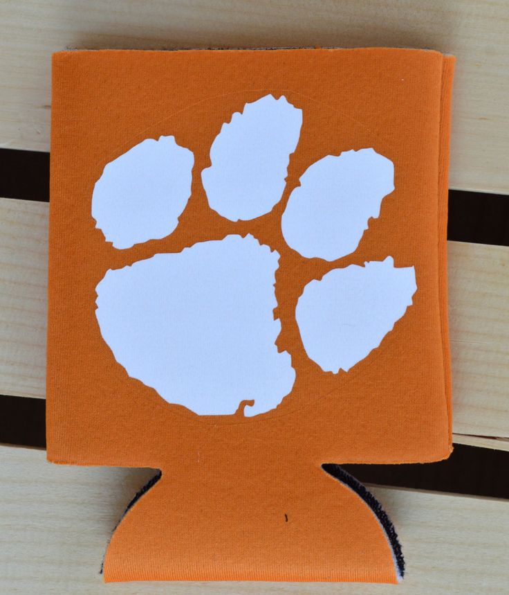 Clemson Monogram can cooler, monogram can cooler, Clemson can cooler, Clemson tailgate can cooler, monogram tailgate gear, graduation gift by DarlinDecorbyRebecca on Etsy