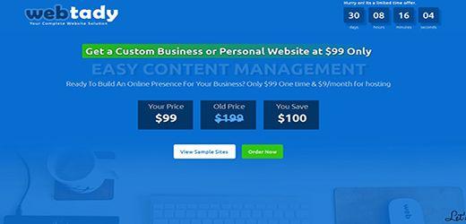 Webtady Cheap Landing Page Design