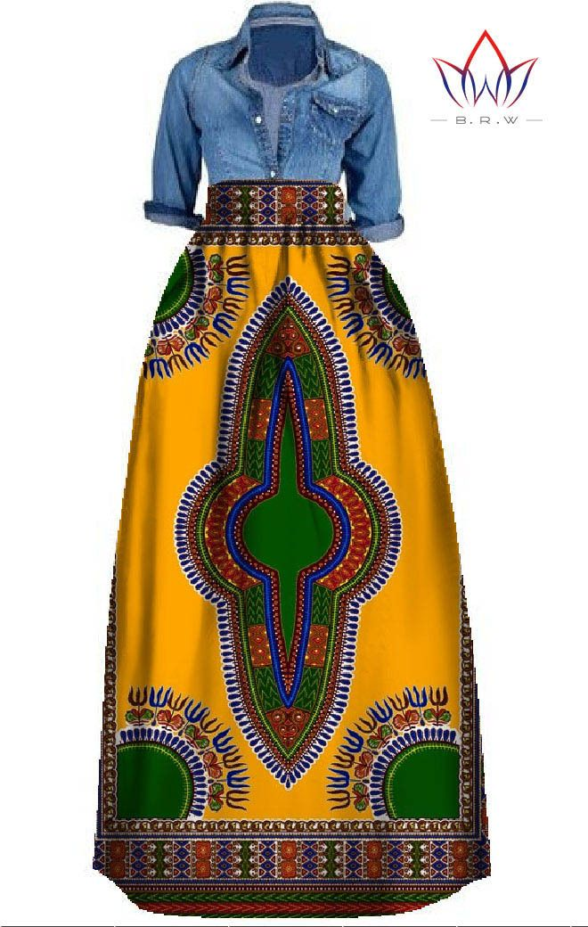 Dashiki Print Maxi Skirts- Multiple Prints and Colors