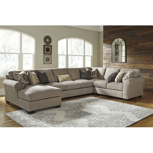 pantomine driftwood sectional wleft facing corner chaise