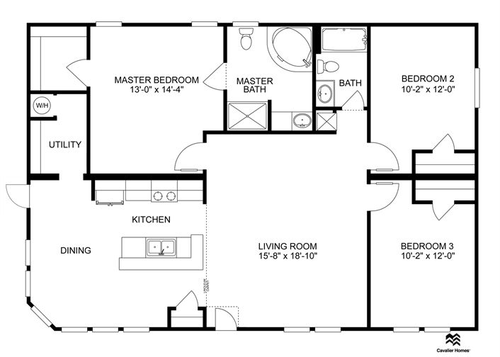 Clayton Homes | Home Floor Plan | Manufactured Homes, Modular Homes, Mobile Home can get this w fp