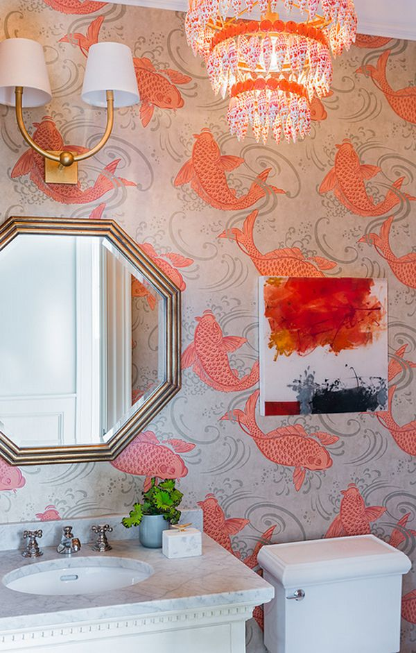 1000 ideas about koi wallpaper on pinterest fish for Koi fish bathroom decorations
