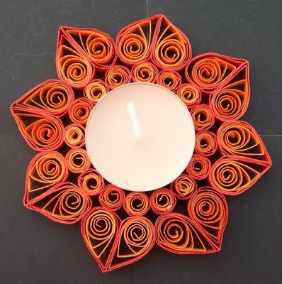 candle holder #quilling