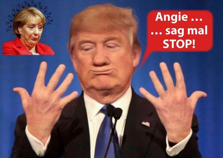 """❌❌❌ Man(n) sollte sich die Vorgänge stets etwas genauer ansehen, um dahinter zu kommen, wie die Schwarze Witwe von der CDU wirklich tickt. Sie ist drauf und dran jetzt auch ihren dritten US-Präsidenten zu überleben. Eigens zu dem Zweck ist sie jetzt in Washington. Sie will dort """"Prinz Donald First"""" maßnehmen, um dann auch für ihn den richtigen Maßnahmenkatalog bis zu seiner Entsorgung zu spinnen. ❌❌❌ #Merkel #Trump #USA #Politik #Dauerkanzlerin #Schauspiel #SchwarzeWitwe"""