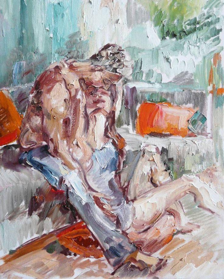 "Saatchi Art Artist Indie Ru; Painting, ""The last touch"" #art"