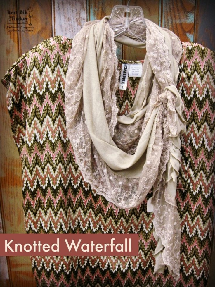 knotted waterfall scarf tie