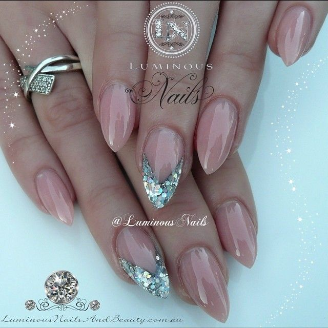 #ShareIG Nude & Silver Nails