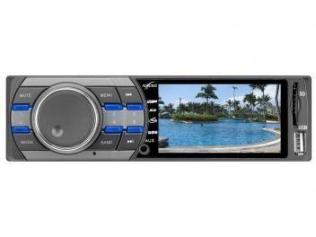 "Reprodutor Multimídia Naveg NVS 3099 Tela 3"" HD - Rádio FM Entrada USB SD e Auxiliar"