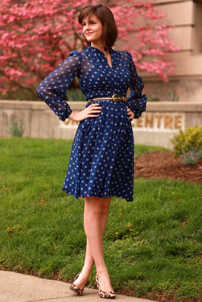 vintage dress, leopard shoes  :)