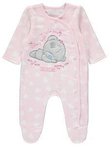 Baby Girl Character Pajamas: Tatty Teddy Fleece Sleepsuit – Novelty-Characters