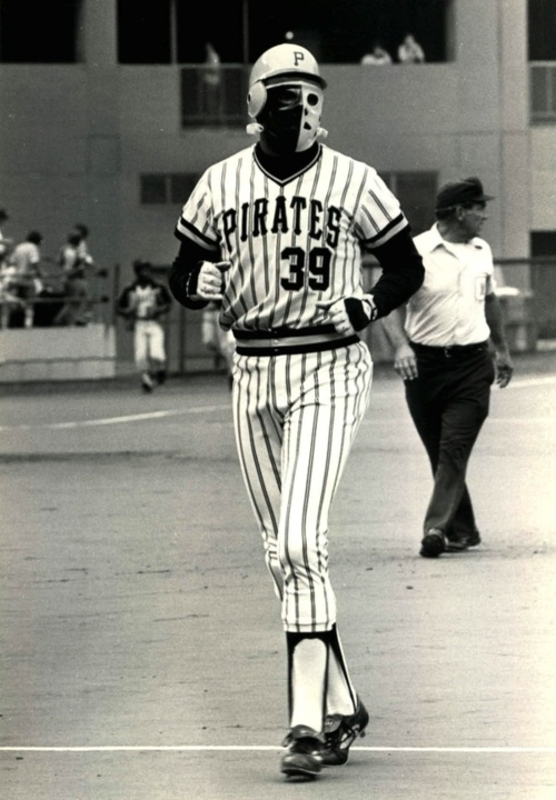 When Baseball Players Were Tough…  In 1978 the Pittsburgh Pirates' Dave Parker donned a goalie mask after fracturing his jaw and cheekbone in a collision.