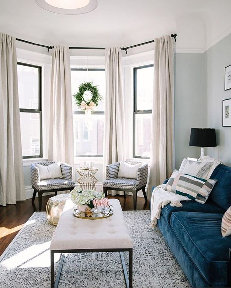 Dressing A Bay Window Sofa And Rug Combo Is Exactly My Style