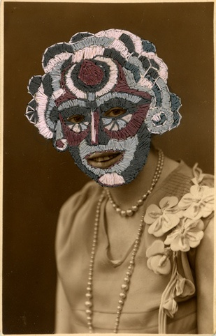 So interesting: embroidery on vintage photographs