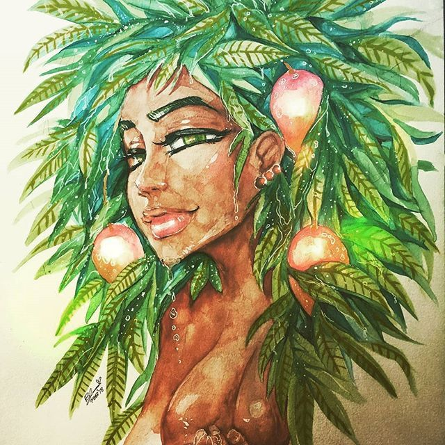 We support you @blackapinaa Keep creating! Wet Mango Tree   - #art #drawing #mangotree #artist #create #share #promote #cover #nevergiveup #workhard #entrepreneur #Repost @blackapinaa with @insta.save.repost
