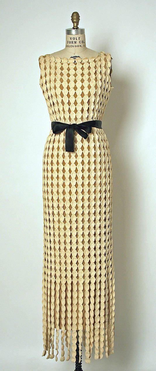 Dress, Evening  House of Balenciaga (French, founded 1937)  Designer: Cristobal Balenciaga (Spanish, 1895–1972) Date: 1968 Culture: French Medium: cotton, silk
