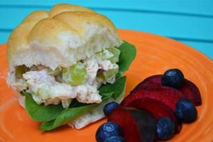 Sweet and Crunchy Chicken Salad Sandwiches recipe - @Emilie -Baby Loving Mama