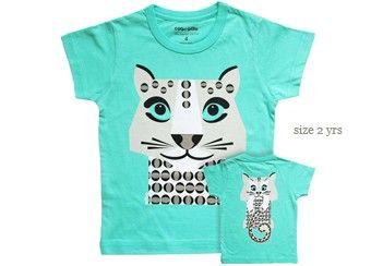 bio katoenen Mibo t-shirt 'sneeuwpanter'