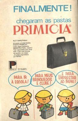 Pastas Primicia (1969)    Propaganda de um tempo em que alguns produtos para crianças eram mais formais.