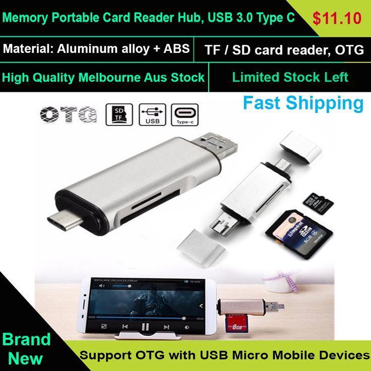 3 IN 1 Memory Portable Card Reader Hub, USB 3.0 Type C Micro SD TF OTG Adapter   Using your phone conveniently to read any file, contract, working date, picture, music or film anywhere.Simplify your life and make it wonderful