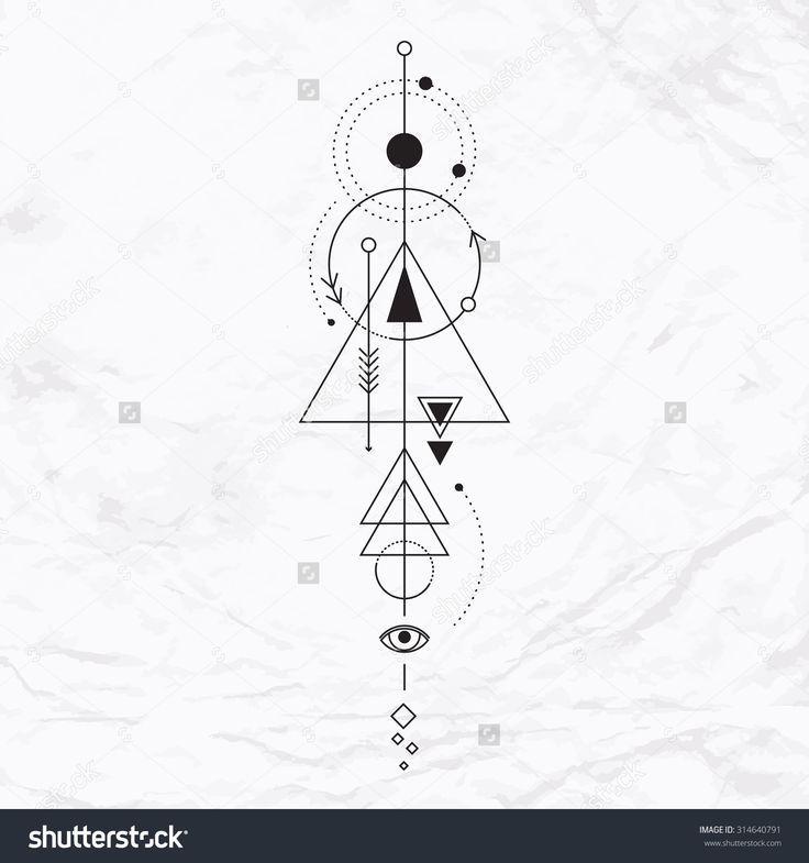 Vector Geometrisches Alchimiesymbol Mit Auge Mond Alchimiesymbol Auge Geometrisches Mit Mond Symbol V Geometrie Tattoo Alchemie Tattoo Geometrisch