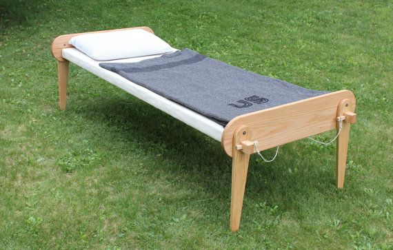 Civil War Field Cot by PaWoods on Etsy