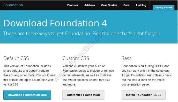 Customizing and Downloading Zurb Foundation