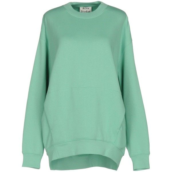 Acne Studios Sweatshirt ($175) ❤ liked on Polyvore featuring tops, hoodies, sweatshirts, green, long sleeve sweatshirts, green top, acne studios sweatshirt, acne studios and green sweatshirt