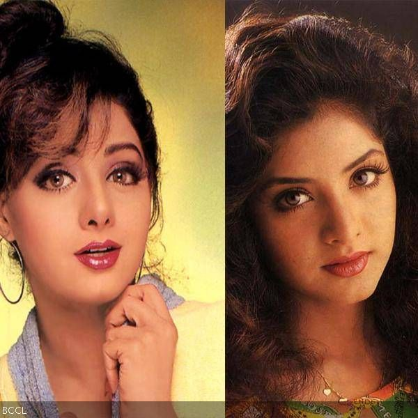 Late Bollywood actress Divya Bharti used to look a lot like Sridevi.
