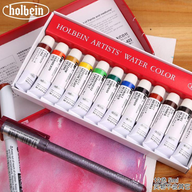 Бесплатная доставка Гольбейна HWC художник акварель пигмент 108/60/30/24/18/12 цвет 5 мл 12 цвет 15 мл воды цвета начального уровня искусства лам(China (Mainland))
