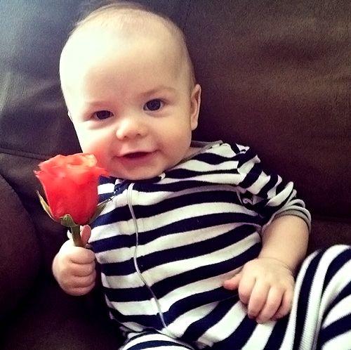 Daxton Butler holding a flower <3