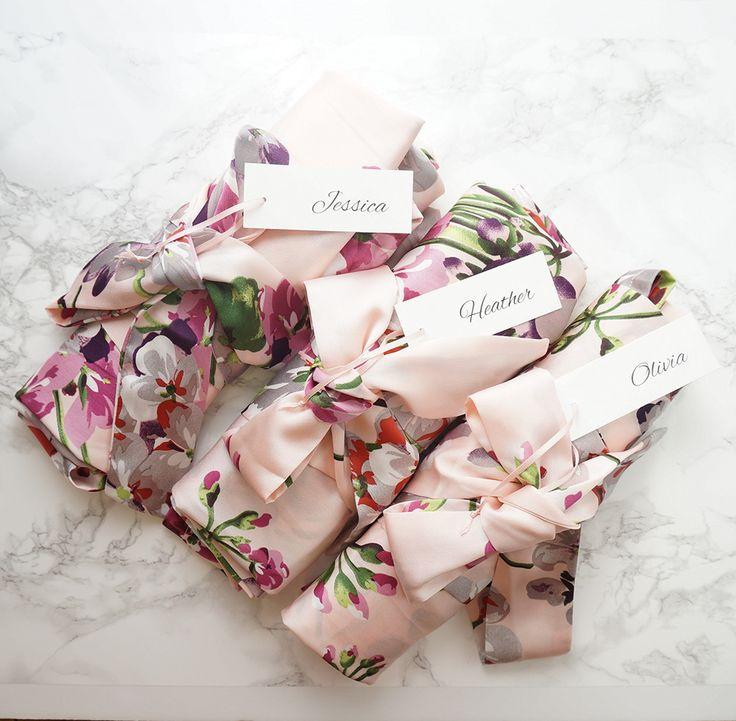 Set of 11 Floral Bridesmaid Robes