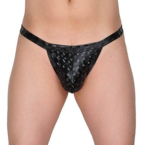 Mens 3D Pattern Thong Briefs Bikini Sexy Gay Men Underwear Pouch Gstring TBack Pants Black L -- Be sure to check out this awesome product.Note:It is affiliate link to Amazon.