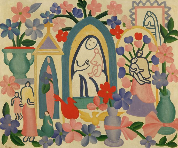 Religião Brasileira - Tarsila do Amaral, 1927