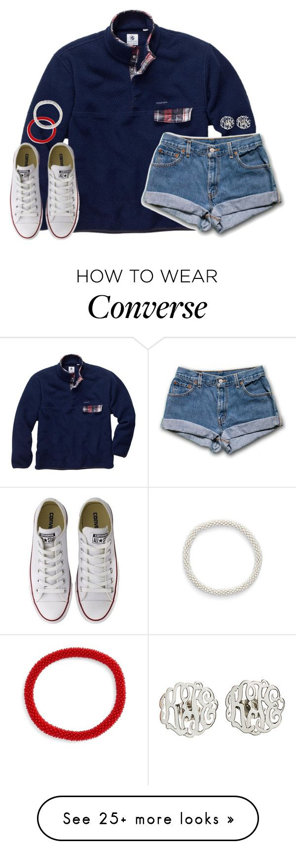 """whatever I do, I will always think of you."" by kaley-ii on Polyvore featuring moda, Converse, Aid Through Trade ve Danielle Stevens Jewelry"