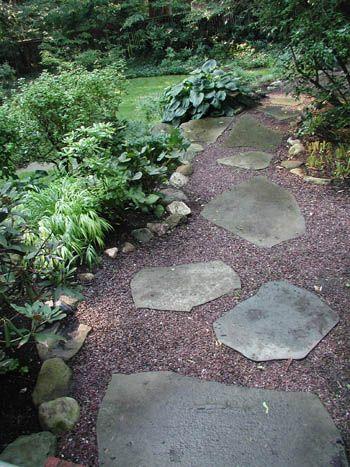 Pea Gravel Backyard Retreat And Shade Garden On Pinterest