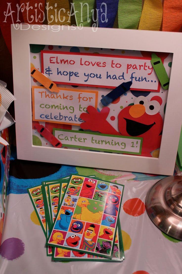 Artistic Anya Designs: Elmo and Friends - Sesame Street 1st Birthday Party
